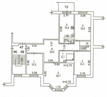 план нижнего уровня - поэтажный план Кострово 1 этаж.jpg
